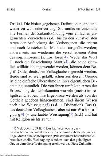 Orakel - Schauungen.de