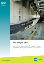 End-hinged ramps MARINE - TTS Group ASA