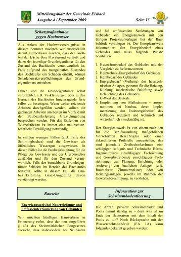 Mitteilungsblatt Ausgabe 4 - September 2009 - Gemeinde Eisbach