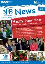 vip newsletter winter 2012 - Leicestershire County Council