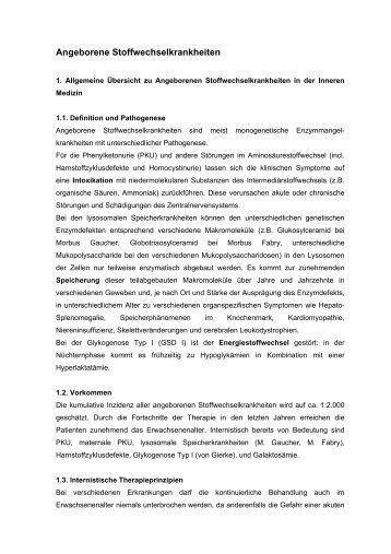 Angeborene Stoffwechselkrankheiten - Dr. Martin Schwarz Facharzt ...