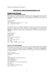PRACTICA 1: ASPECTOS BÁSICOS DE C++(I) EJERCICIOS ...