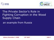 The Private Sector's Role in Fighting Corruption in the Wood Supply ...