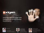 Linux Messaging for Large Scale Enterprise and Service Provider ...