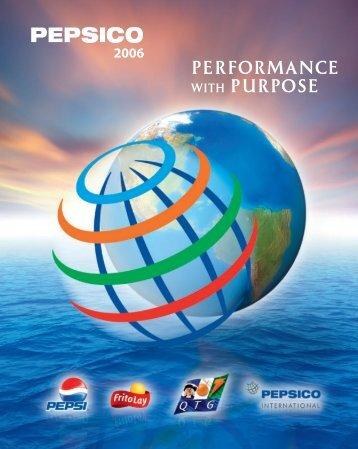 PERFORMANCE WITH PURPOSE - PepsiCo