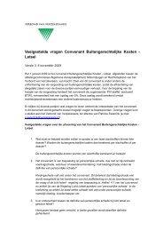 Veelgestelde vragen Convenant Buitengerechtelijke Kosten - Letsel