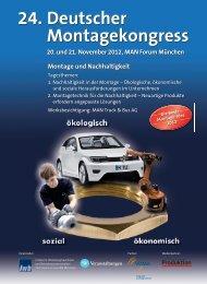 24. Deutscher Montagekongress 24. Deutscher Montagekongress