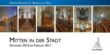 MITTEN IN DER STADT - offene kirche - sankt nikolai zu kiel