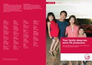 Your family deserves extra PA protection - AIA