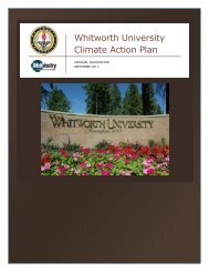 Whitworth University Climate Action Plan - ACUPCC Reports ...