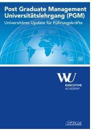 PGM - Post Graduate Management Lehrgang der WU Wien