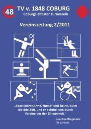 Vereinsheft 2/2011 - TV 1848 Coburg