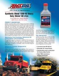 Synthetic Blend 15W-40 Heavy Duty Motor Oil (PCO) - Synpsg