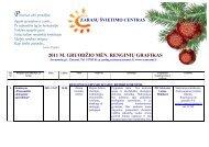 2011 m. gruodžio mėnesio renginiai - Zarasų švietimo centras