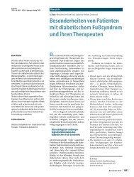 Besonderheiten von Patienten mit diabetischem ... - Springer