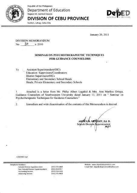 Q - DepEd Cebu Province