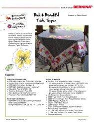 Bold & Beautiful Table Topper - Bernina