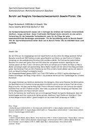 Bericht - KSG Baselland