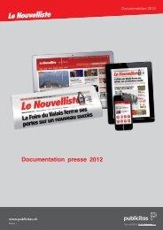 Documentation presse 2012 - Le Nouvelliste – Publicité Presse ...