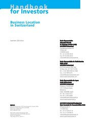 Handbook for Investors: Business Location in Switzerland - Concepto