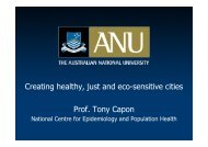 Professor Capon's lecture - New Zealand Centre for Sustainable Cities