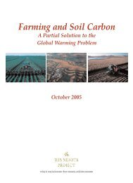 Farming and Soil Carbon - The Minnesota Project