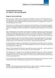 Kommunikationsstrategi for Odense Universitetshospital ...