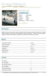 LEADER 805 - Riviera Plaisance