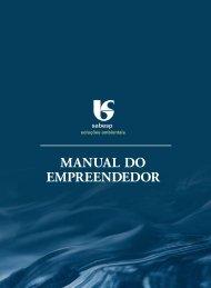 Baixe o manual do empreendedor - Sabesp