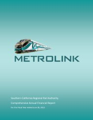 Comprehensive Annual Financial Report - Metrolink