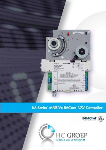 HC Barcol-Air brochure MNB-Vx BACnet VAV Controller