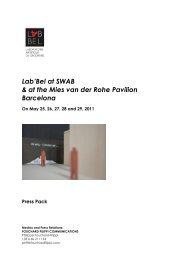 Lab'Bel at SWAB & at the Mies van der Rohe Pavilion Barcelona
