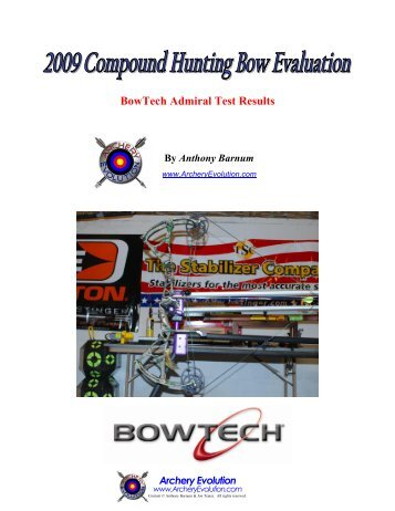 Bowtech admiral Owners manual