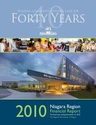 2010 Annual Report - Niagara Region
