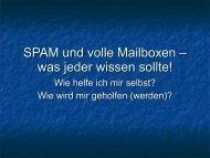 SPAM und volle Mailboxen