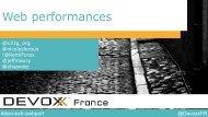 Devoxx France 2014 Web Performances EN
