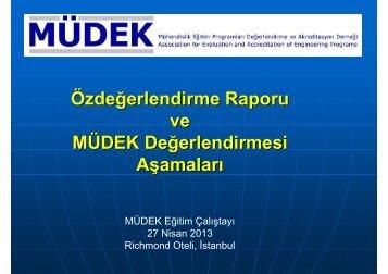 MÜDEK Eğitim Çalıştayı - 27 Nisan 2013, İstanbul