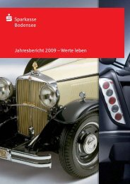 Jahresbericht 2009 ² Werte leben - Sparkasse Bodensee