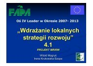 Wdrażanie LSR - Leader