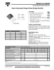 GBU6A thru GBU6M Glass Passivated Single-Phase Bridge Rectifier