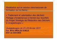 Traitement et valorisation des déchets - CIFAL Ouagadougou