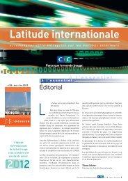 Latitude Internationale n°28 - CIC