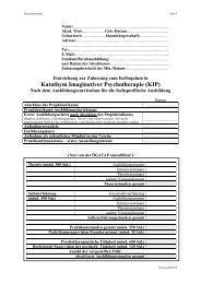 Katathym Imaginativer Psychotherapie (KIP) - ÖGATAP