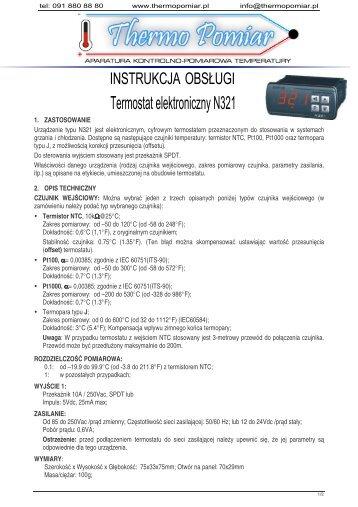 Termostat elektroniczny N321 - Thermo Pomiar