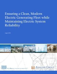 Ensuring a Clean, Modern Electric Generating ... - Analysis Group