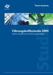 Führungskräftestudie 2009 - Goldpark GmbH Unternehmensberatung