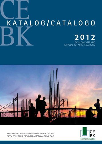 katalog/catalogo 2012 - Cassa edile
