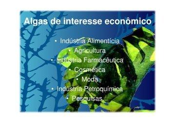 Algas de interesse econômico - Fernando Santiago dos Santos