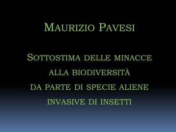 Maurizio Pavesi - Natura Mediterraneo