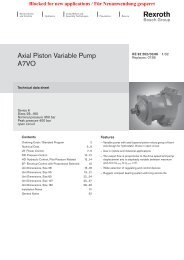 Axial Piston Variable Pump A7VO - Group VH A/S